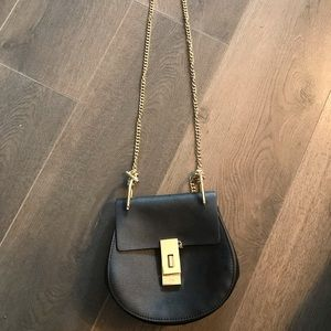CHLOE Drew Mini textured-leather Shoulder Bag